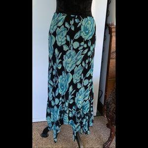 L Slinky Sexy Fairy Long Skirt Pointed Hem Flapper